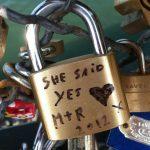lock of love on Paris bridge
