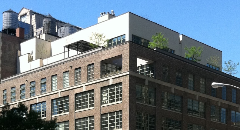 apartment atop roofs