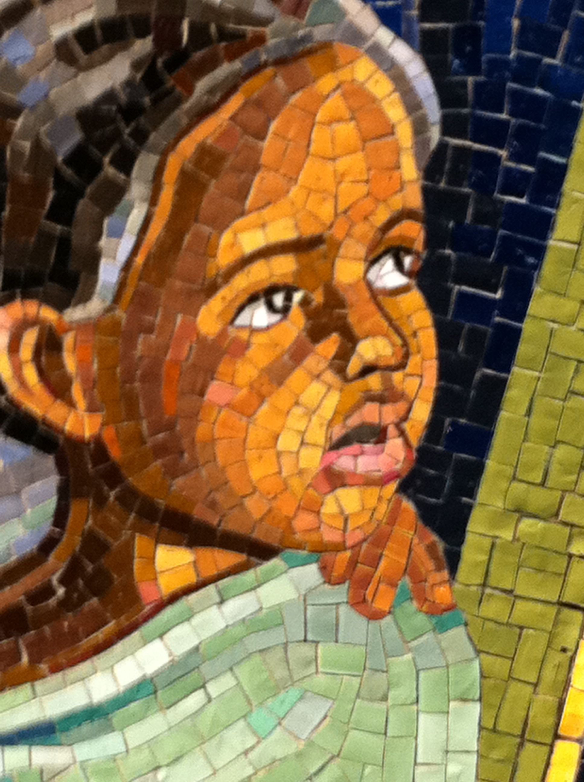 tile mosaic art in NYC's subways